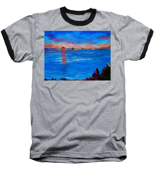 Enjoying The Sunset Differently Baseball T-Shirt