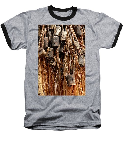 Baseball T-Shirt featuring the photograph Enkhuizen Fishing Nets by KG Thienemann