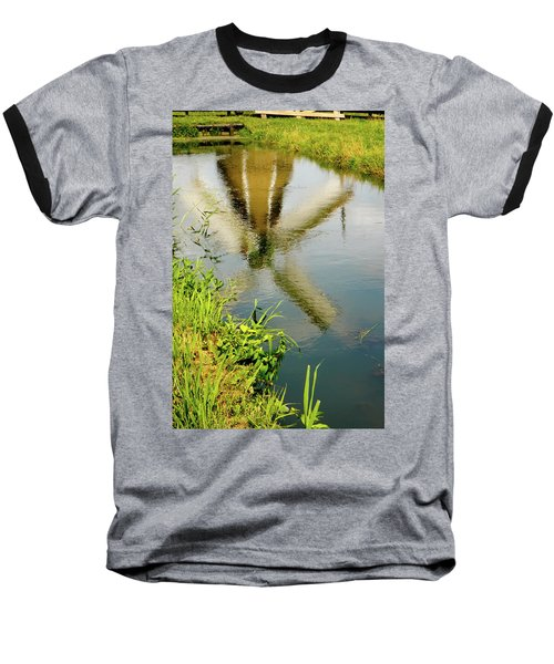 Baseball T-Shirt featuring the photograph Enkhuizen Windmill by KG Thienemann