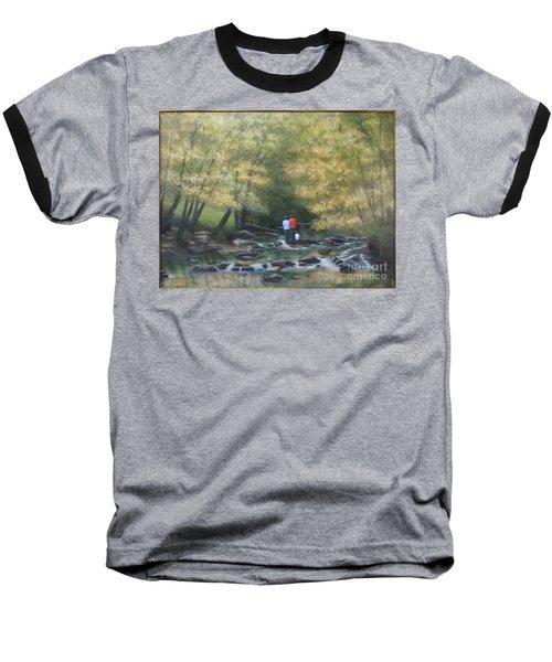 Eno River Afternoon Baseball T-Shirt