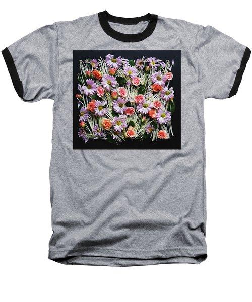 Enoki Mushroom Textures Baseball T-Shirt