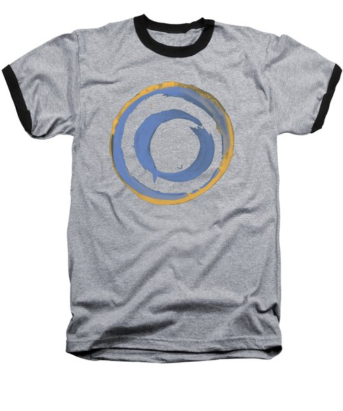 Enso T Blue Orange Baseball T-Shirt by Julie Niemela