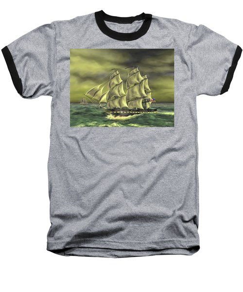 Baseball T-Shirt featuring the painting Ensuring Liberty by Dave Luebbert
