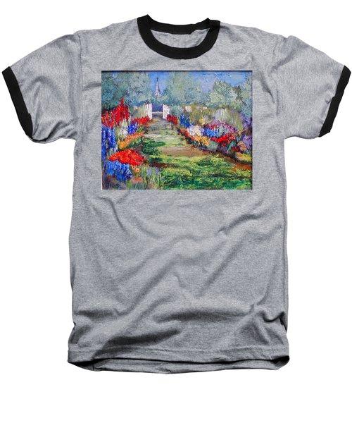 Baseball T-Shirt featuring the painting Enter His Gates by Gail Kirtz