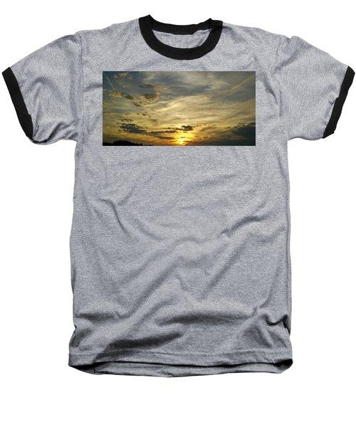 Baseball T-Shirt featuring the photograph Enter The Evening by Robert Knight