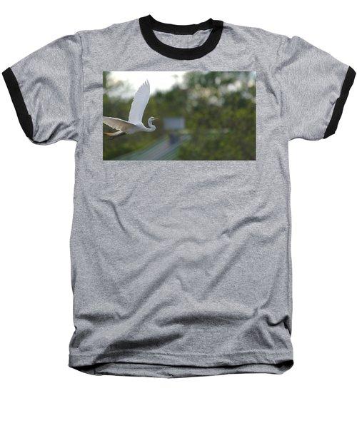 Enter The Great Egret 4 Digitalart Baseball T-Shirt