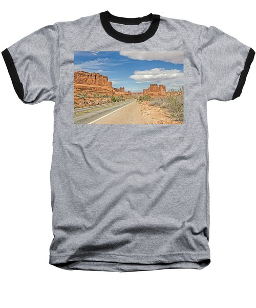 Baseball T-Shirt featuring the photograph Entrada Sandstone Formations by Sue Smith