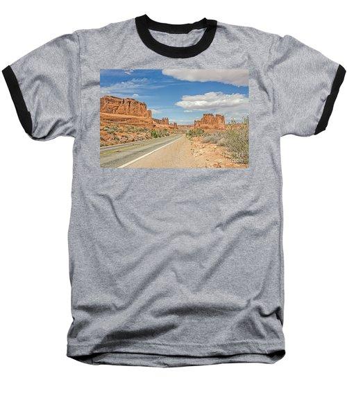 Entrada Sandstone Formations Baseball T-Shirt