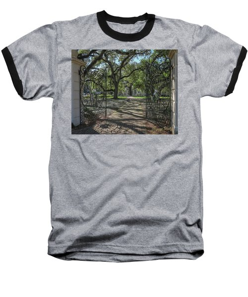 Entrance Gate To Ul Alum House Baseball T-Shirt by Gregory Daley  PPSA