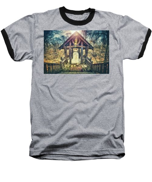 Baseball T-Shirt featuring the photograph Entrance To 7 Bridges - Grant Park - South Milwaukee  by Jennifer Rondinelli Reilly - Fine Art Photography
