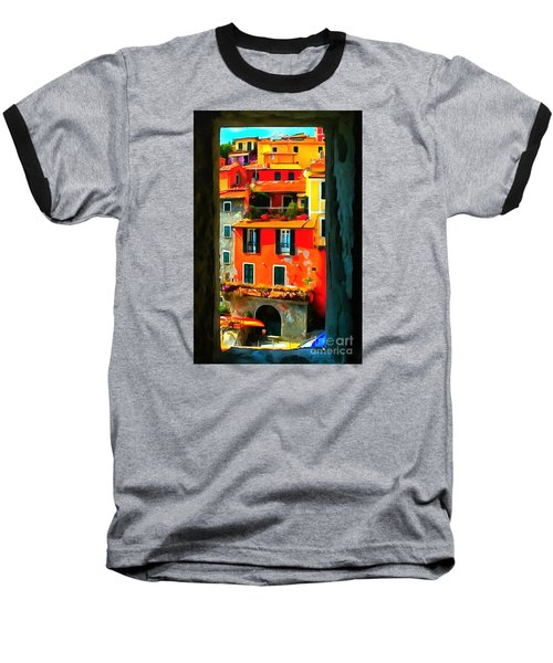 Entry Way Painting Baseball T-Shirt by Catherine Lott