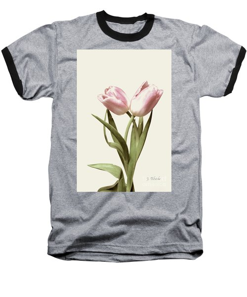 Entwined Tulips Baseball T-Shirt by Jeannie Rhode