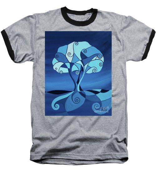 Enveloped In Blue Baseball T-Shirt