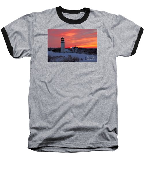 Baseball T-Shirt featuring the photograph Epic Sunset At Highland Light by Amazing Jules