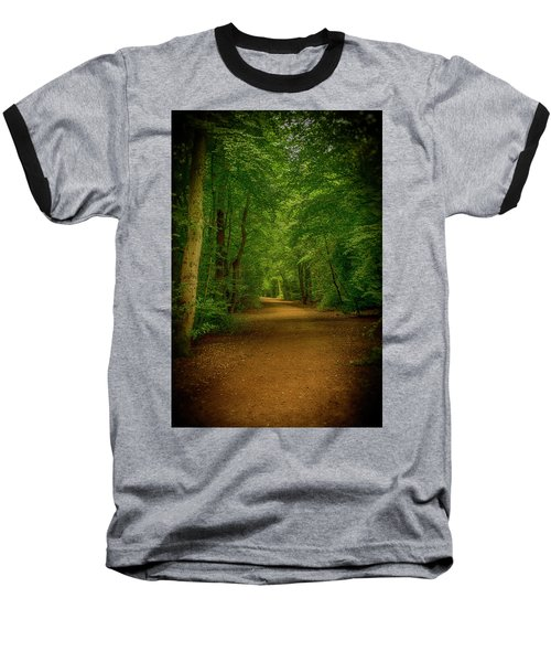 Epping Forest Walk Baseball T-Shirt by David French