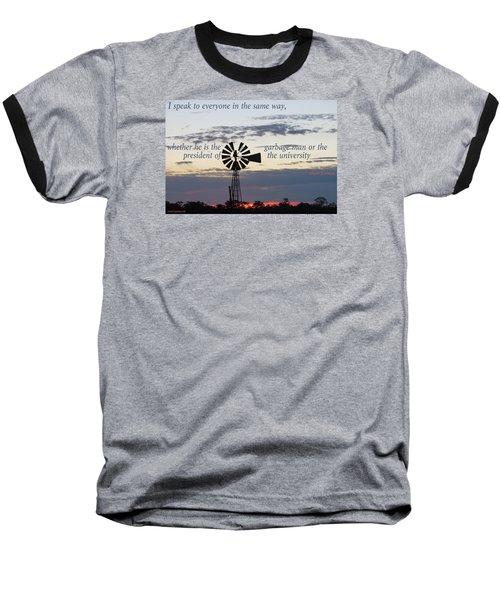 Equal In God's Eye Baseball T-Shirt