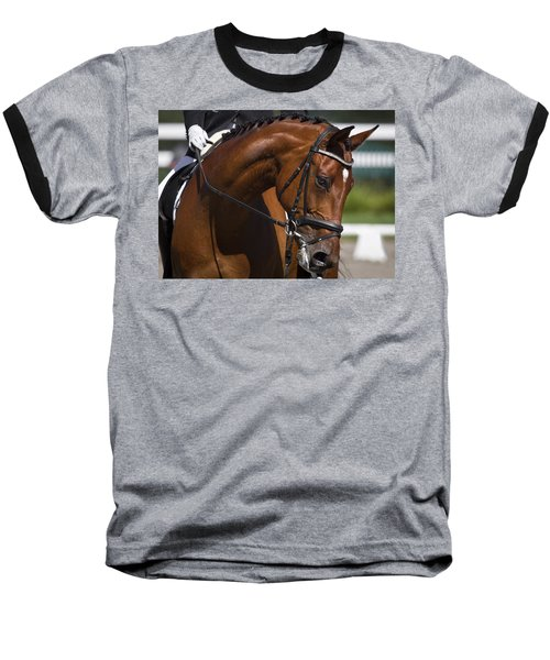 Equestrian At Work Baseball T-Shirt by Wes and Dotty Weber