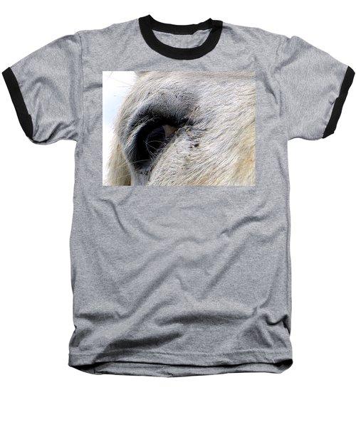Baseball T-Shirt featuring the photograph Equine Eye by Chris Mercer