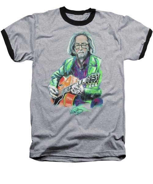 Eric Clapton Baseball T-Shirt by Melanie D