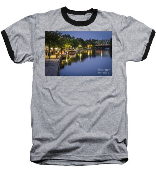 Erie Canal Shoreline Baseball T-Shirt
