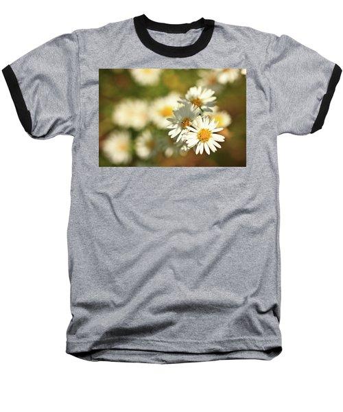 Erigeron Annuus Daisy Like Wildflower Baseball T-Shirt