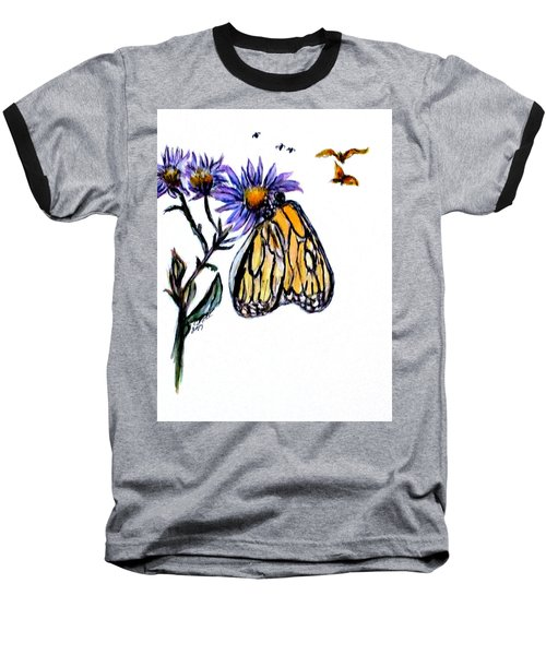 Erika's Butterfly One Baseball T-Shirt by Clyde J Kell