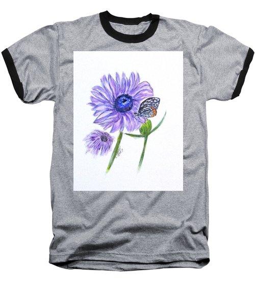 Erika's Butterfly Three Baseball T-Shirt by Clyde J Kell