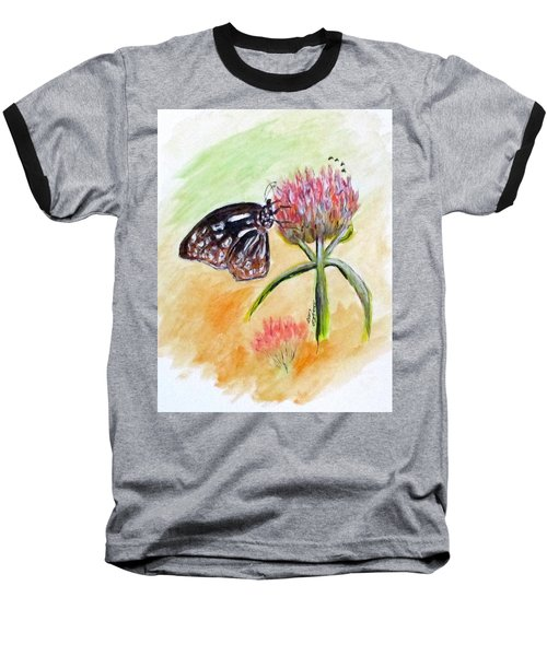 Erika's Butterfly Two Baseball T-Shirt by Clyde J Kell