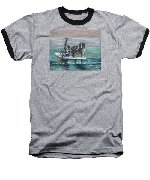 Erin And Oakie On The Paddle Board Baseball T-Shirt