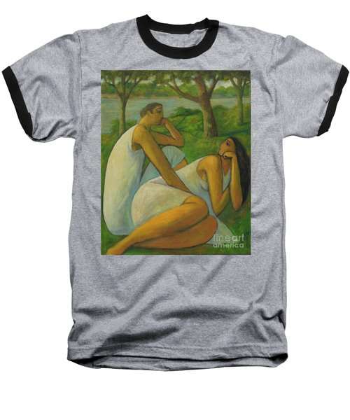 Baseball T-Shirt featuring the painting Eros And Rhea by Glenn Quist