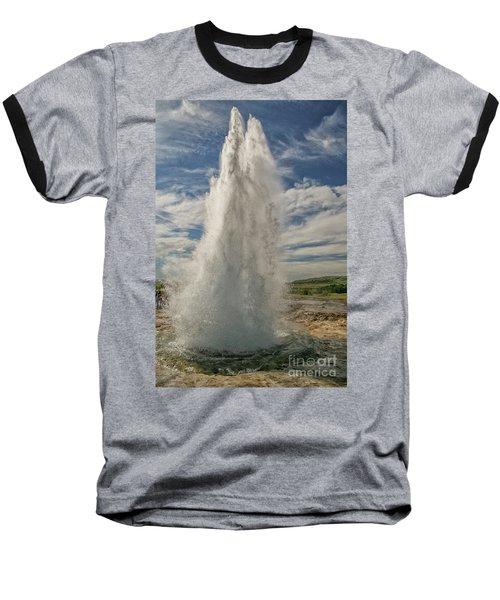 Erupting Geyser In Iceland Baseball T-Shirt
