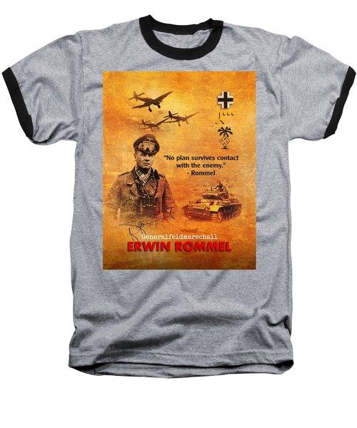 Erwin Rommel Tribute Baseball T-Shirt