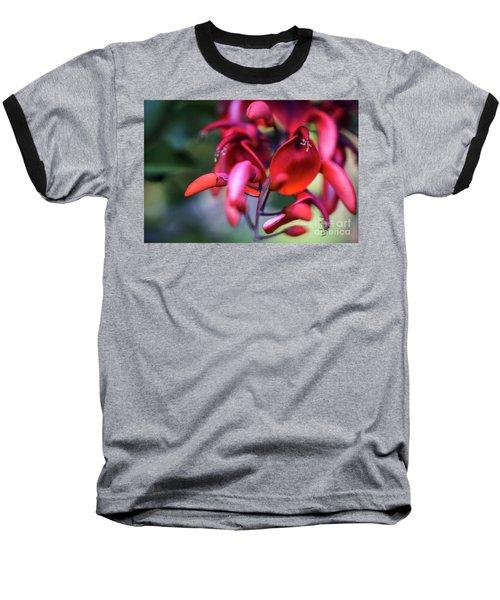 Baseball T-Shirt featuring the photograph Erythrina Crista Galli Flower Spain Square Cadiz Spain by Pablo Avanzini