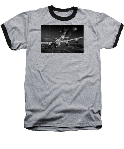 Escape At Mailly Black And White Version Baseball T-Shirt