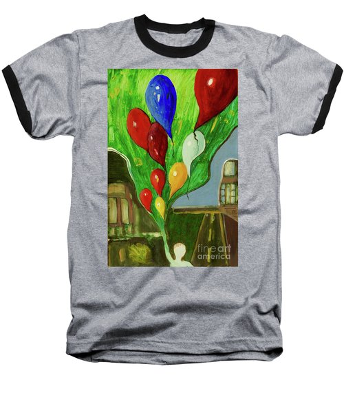 Baseball T-Shirt featuring the painting Escape by Paul McKey