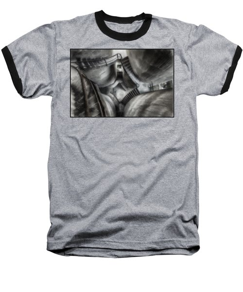 Escher Stairwell Baseball T-Shirt