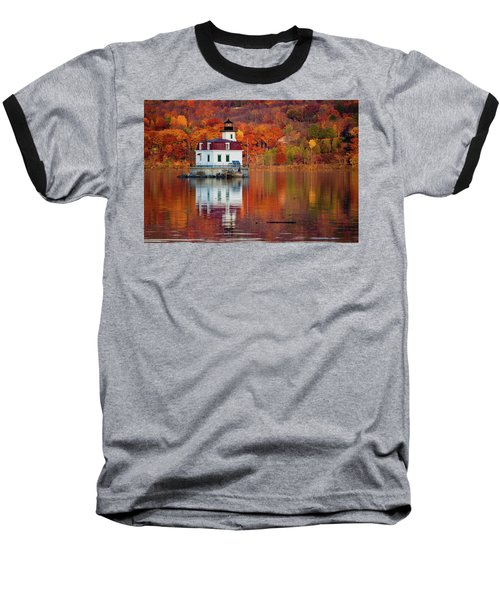 Esopus Lighthouse In Late Fall #2 Baseball T-Shirt by Jeff Severson