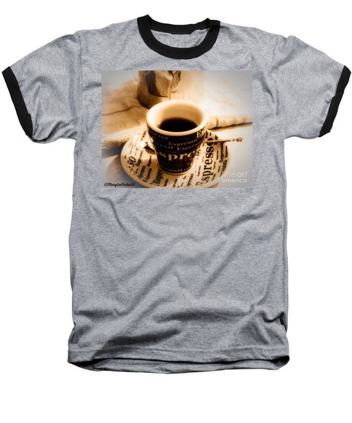 Espresso Anyone Baseball T-Shirt by MaryLee Parker