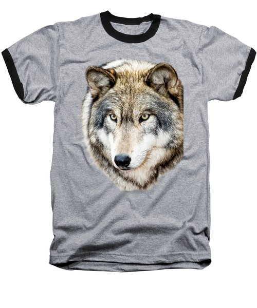 Essence Of Wolf Baseball T-Shirt by Gary Slawsky