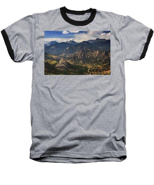 Estes Park Aerial Baseball T-Shirt