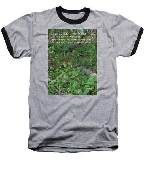 Eternity In An Hour Baseball T-Shirt by Deborah Dendler