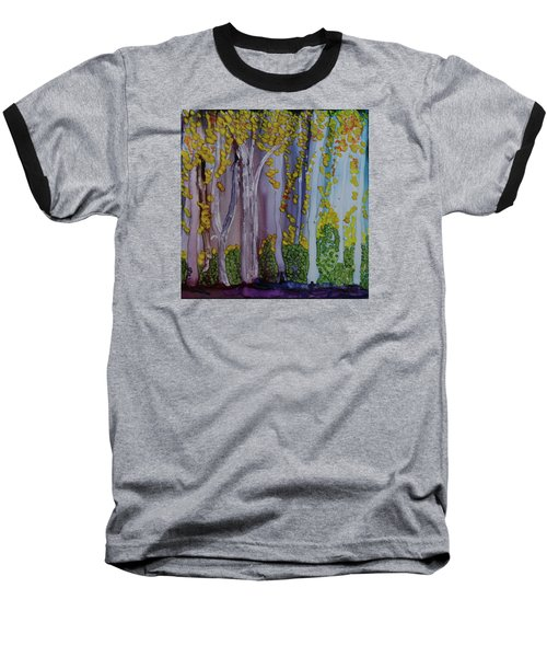 Baseball T-Shirt featuring the painting Ethereal Forest by Suzanne Canner