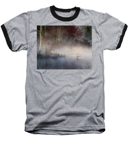 Baseball T-Shirt featuring the photograph Ethereal Goose by Bill Wakeley