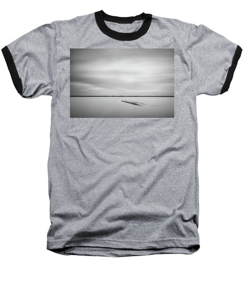 Ethereal Long Exposure Of A Pier In The Lake Baseball T-Shirt