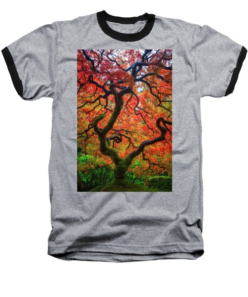 Ethereal Tree Alive Baseball T-Shirt