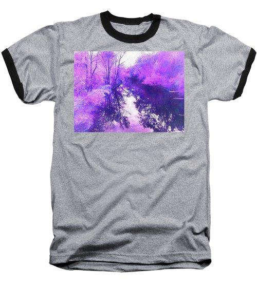Ethereal Water Color Blossom Baseball T-Shirt