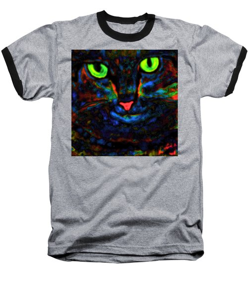 Ethical Kitty See's Your Dilemma Light 2 Dark Version Baseball T-Shirt