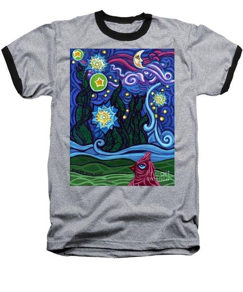 Etoile Noire Bleu Baseball T-Shirt by Genevieve Esson