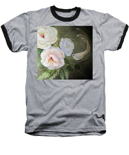 Baseball T-Shirt featuring the painting Etre Fleur  by Patricia Schneider Mitchell
