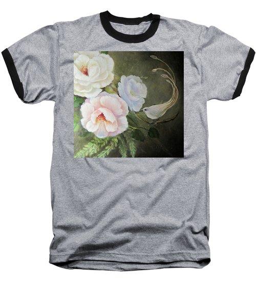 Etre Fleur  Baseball T-Shirt by Patricia Schneider Mitchell